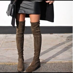 Stuart Weitzman for Russell Bromley suede boots